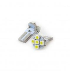 T10 5-SMD 3528 Flat Base LED Bulb
