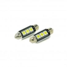 Festoon 42mm 3-SMD 5050 Canbus LED Bulb